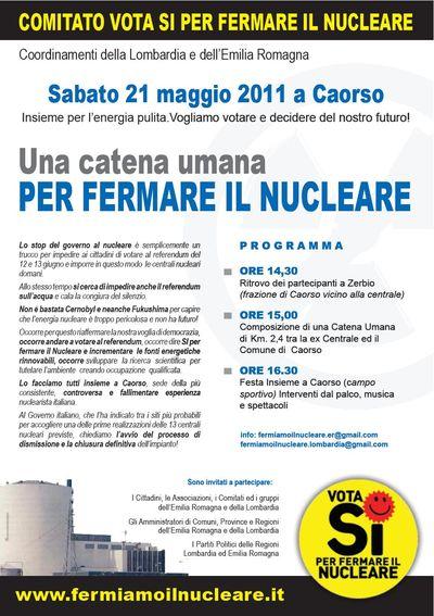 Fermare il nucleare